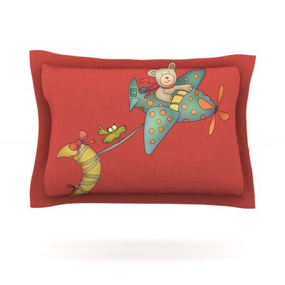 I Will Bring You The Moon by Carina Povarchik Featherweight Pillow Sham Size: Queen, Fabric: Cotton