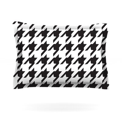 Spacey Houndstooth by Empire Ruhl Featherweight Pillow Sham Size: King, Fabric: Cotton