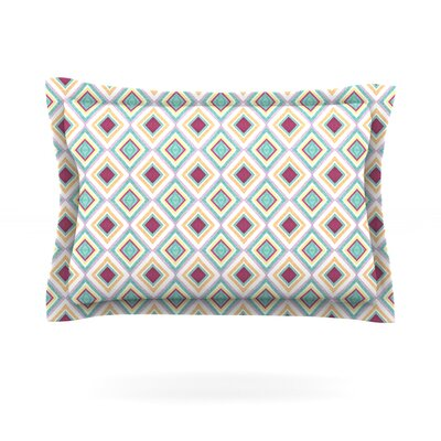 Hip Diamonds by Empire Ruhl Featherweight Pillow Sham Size: Queen, Fabric: Cotton