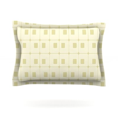 Squares in Square by Fotios Pavlopoulos Featherweight Pillow Sham Size: Queen, Fabric: Cotton