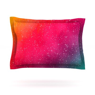 Colorful Constellation by Fotios Pavlopoulos Featherweight Pillow Sham Size: King, Fabric: Cotton