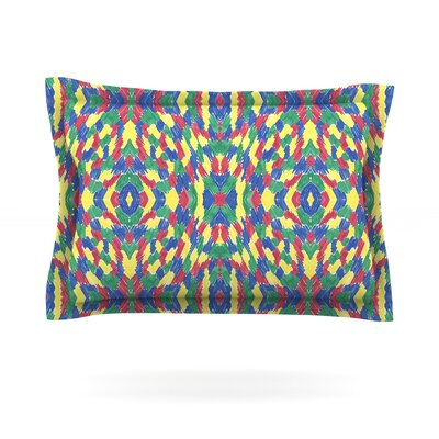 Energy Abstract by Empire Ruhl Featherweight Pillow Sham Size: Queen, Fabric: Cotton
