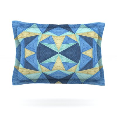 The Blues by Empire Ruhl Featherweight Pillow Sham Size: Queen, Fabric: Cotton