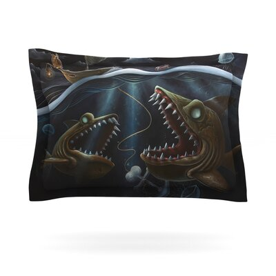 Sink or Swim by Graham Curran Featherweight Pillow Sham Size: King, Fabric: Cotton