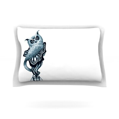 Owl by Graham Curran Featherweight Pillow Sham Size: King, Fabric: Cotton