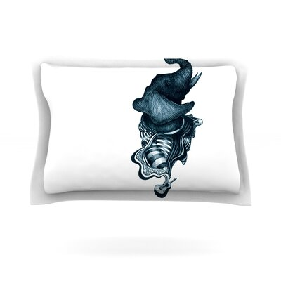 Elephant Guitar by Graham Curran Featherweight Pillow Sham Size: Queen, Fabric: Cotton