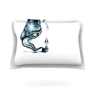 Hot Tub Hunter by Graham Curran Featherweight Pillow Sham Size: Queen, Fabric: Cotton
