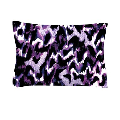Wild at Heart by Ebi Emporium Featherweight Pillow Sham Size: Queen, Color: Purple/Lavender, Fabric: Cotton