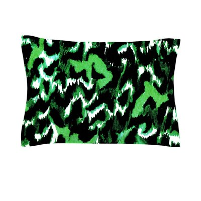 Wild at Heart by Ebi Emporium Featherweight Pillow Sham Size: Queen, Color: Green/Emerald, Fabric: Cotton