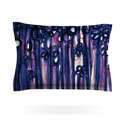 Winter Garden in Violet by Ebi Emporium Featherweight Pillow Sham Size: King, Fabric: Cotton
