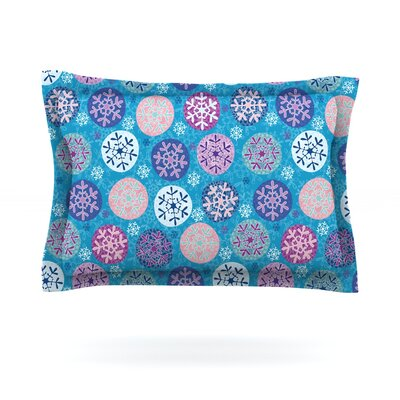 Floral Winter by Julia Grifol Featherweight Pillow Sham Size: Queen, Fabric: Cotton
