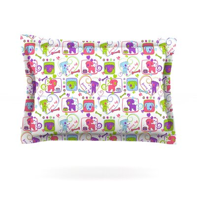 My Loving Dogs by Julia Grifol Featherweight Pillow Sham Size: King, Fabric: Cotton