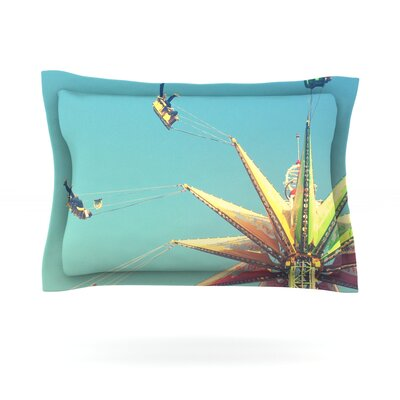 Flying Chairs by Libertad Leal Featherweight Pillow Sham Size: Queen, Fabric: Cotton