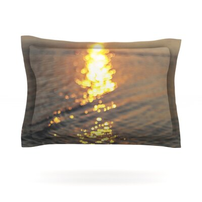 Still Waters by Libertad Leal Featherweight Pillow Sham Size: King, Fabric: Cotton