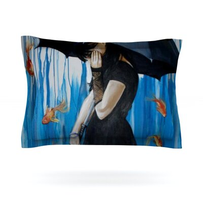 Sink or Swim by Lydia Martin Featherweight Pillow Sham Size: King, Fabric: Cotton