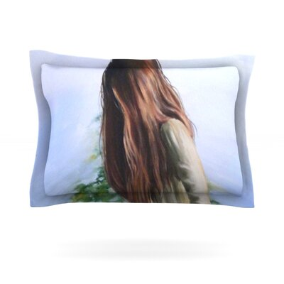 Knee Deep by Lydia Martin Featherweight Pillow Sham Size: Queen, Fabric: Cotton