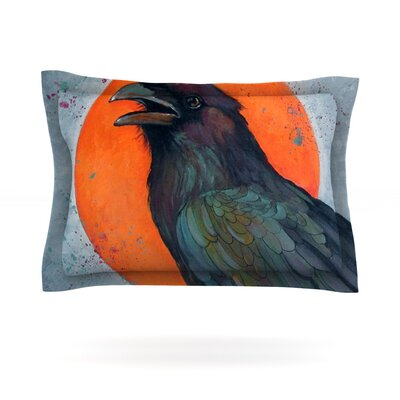 Raven Sun by Lydia Martin Featherweight Pillow Sham Size: Queen, Fabric: Cotton
