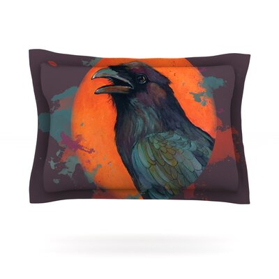 Raven Sun Alternate by Lydia Martin Featherweight Pillow Sham Size: King, Fabric: Cotton