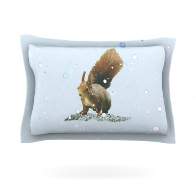 Squirrel by Monika Strigel Featherweight Pillow Sham Size: King, Fabric: Cotton