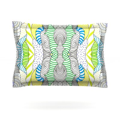 Wormland by Monika Strigel Featherweight Pillow Sham Size: King, Fabric: Cotton