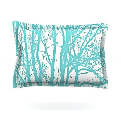 Mint Trees by Monika Strigel Featherweight Pillow Sham Size: Queen, Fabric: Cotton