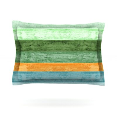 Beach Wood by Monika Strigel Featherweight Pillow Sham Size: Queen, Color: Blue, Fabric: Cotton