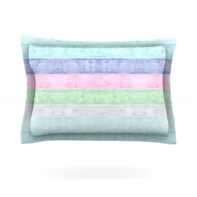 Beach Wood by Monika Strigel Featherweight Pillow Sham Size: King, Color: Pastel, Fabric: Cotton