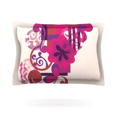 Lilac by Louise Machado Featherweight Pillow Sham Size: Queen, Fabric: Cotton
