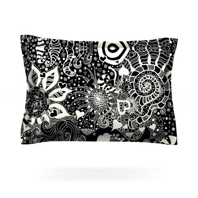 Neptunes Garden by Monika Strigel Featherweight Pillow Sham Size: King, Fabric: Cotton