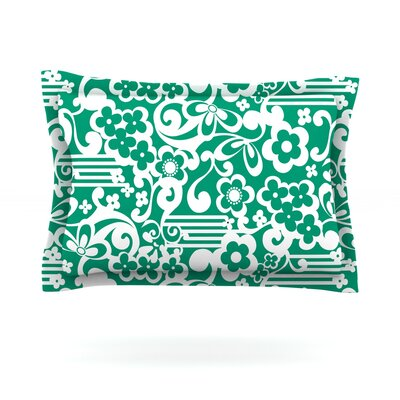 Esmerald by Louise Machado Featherweight Pillow Sham Size: Queen, Fabric: Cotton
