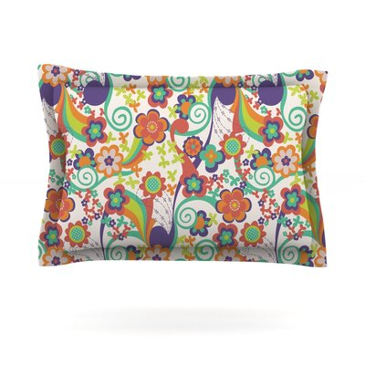 Printemps by Louise Machado Featherweight Pillow Sham Size: Queen, Fabric: Cotton