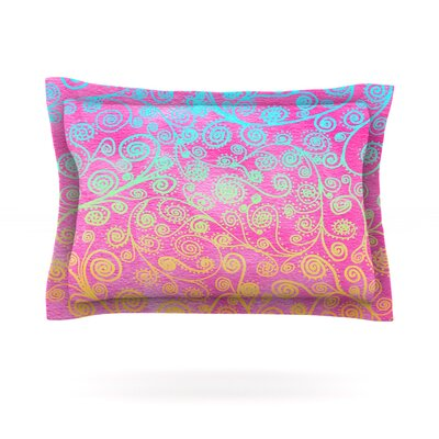 Get Lucky by Monika Strigel Featherweight Pillow Sham Size: Queen, Fabric: Cotton
