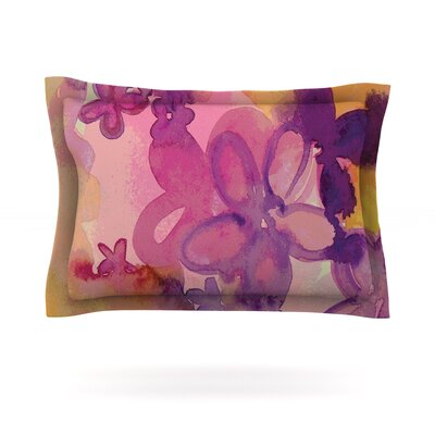 Dissolved Flowers by Louise Machado Featherweight Pillow Sham Size: Queen, Fabric: Cotton