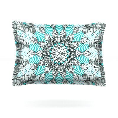 Dots and Stripes by Monika Strigel Featherweight Pillow Sham Size: Queen, Color: Mint, Fabric: Cotton