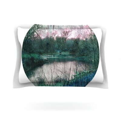 Swamp by Micah Sager Featherweight Pillow Sham Size: Queen, Fabric: Cotton