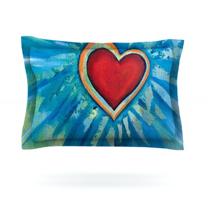 Love Shines On by Padgett Mason Featherweight Pillow Sham Size: Queen, Fabric: Cotton