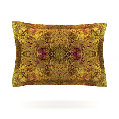Goldenrod by Nikposium Featherweight Pillow Sham Size: King, Fabric: Cotton