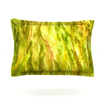 Tropical Delight by Rosie Brown Featherweight Pillow Sham Size: King, Fabric: Cotton