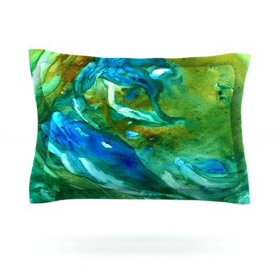 Hurricane by Rosie Brown Featherweight Pillow Sham Size: King, Fabric: Cotton