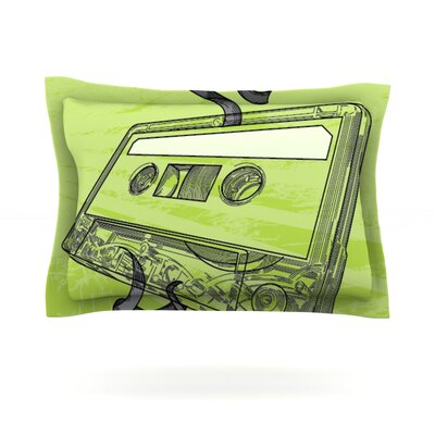 Mixtape by Sam Posnick Featherweight Pillow Sham Size: King, Fabric: Cotton
