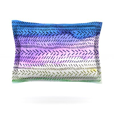 Aqua by Sreetama Ray Featherweight Pillow Sham Size: Queen, Fabric: Cotton