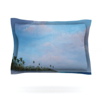 Carefree Carribean by Rosie Brown Featherweight Pillow Sham Size: Queen, Fabric: Cotton