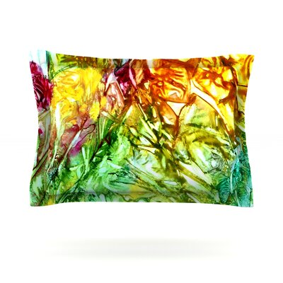 Kaleidoscope by Rosie Brown Featherweight Pillow Sham Size: King, Fabric: Cotton