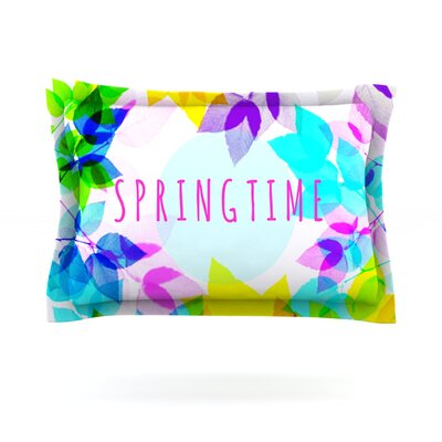 Seasons Springtime by Sreetama Ray Featherweight Pillow Sham Size: King, Fabric: Cotton