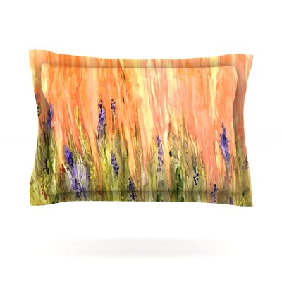 Welcome Spring by Rosie Brown Featherweight Pillow Sham Size: Queen, Fabric: Cotton