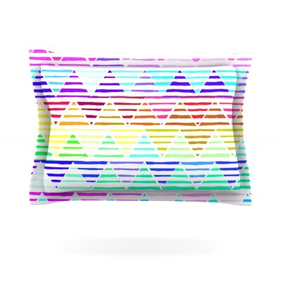 Stripes Cushion by Sreetama Ray Featherweight Pillow Sham Size: King, Fabric: Cotton