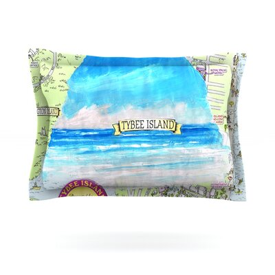Tybee Island by Rosie Brown Featherweight Pillow Sham Size: Queen, Fabric: Cotton
