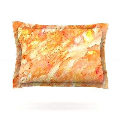 Autumn by Rosie Brown Featherweight Pillow Sham Size: King, Fabric: Cotton