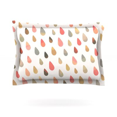 Opal Drops by Daisy Beatrice Featherweight Pillow Sham Color: Peach/White, Size: King