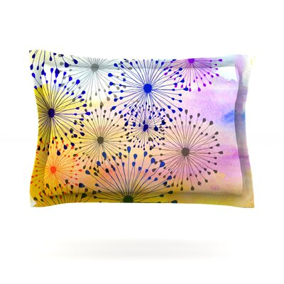 Bursting Blossoms by Sreetama Ray Featherweight Pillow Sham Size: Queen, Fabric: Cotton